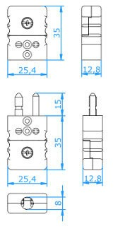Type T Thermocouple Connector Diagram