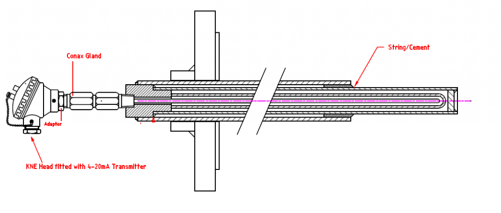 Stove Dome Thermocouple Drawing