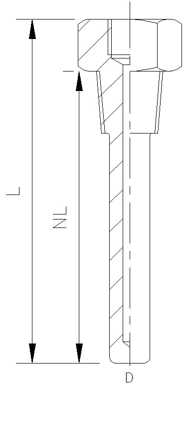 Solid Drilled Pocket with Process Thread