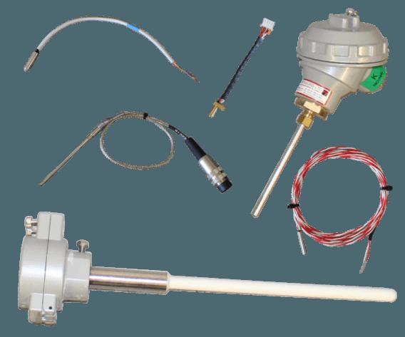 thermocouple and pt100 sensors