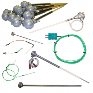 Image of different types of Thermocouples.
